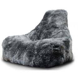 Baa Grey Fur Super Lounger